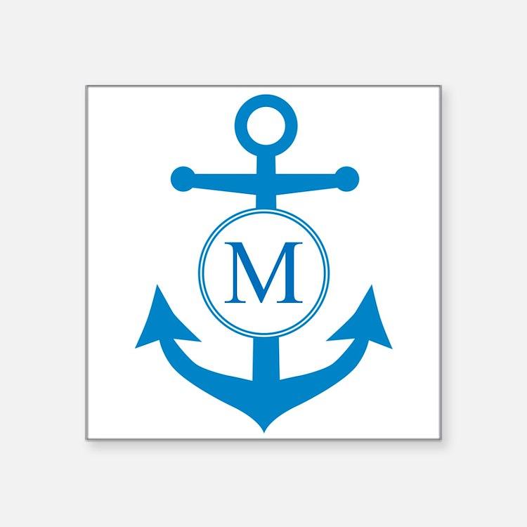 Anchor, Nautical Monogram Sticker