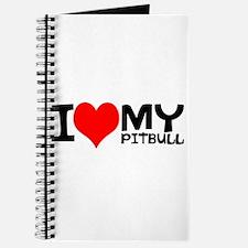 I Love My Pitbull Journal
