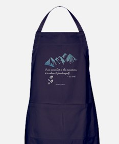 Never Lost in the Mts Apron (dark)