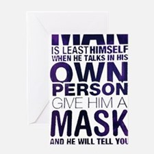 Oscar Wilde Quote - Man is Least Himself Greeting