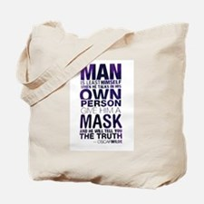 Cute Guy fawkes mask Tote Bag