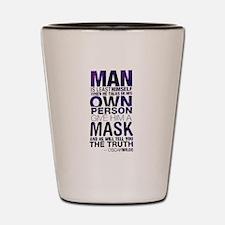Cute Guy fawkes mask Shot Glass