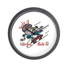 Ride Skateboard Wall Clock
