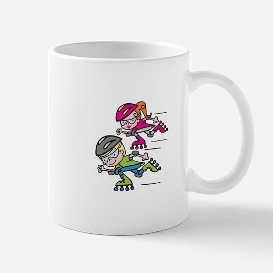 Rollerblading Kids Mugs