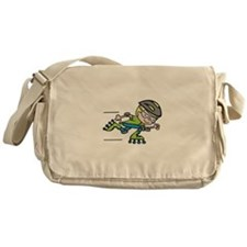 Rollerblading Boy Messenger Bag