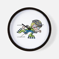 Rollerblading Boy Wall Clock