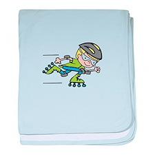 Rollerblading Boy baby blanket