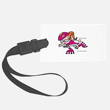 Rollerblading Girl Luggage Tag