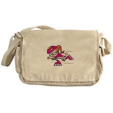 Rollerblading Girl Messenger Bag