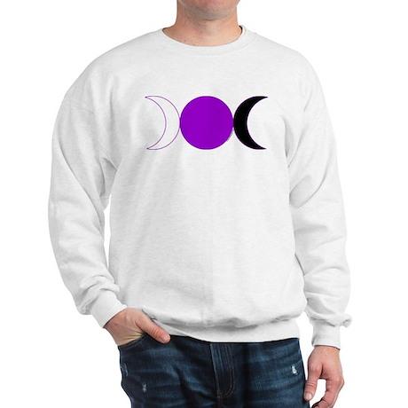 Triple Moon Sweatshirt - Purple