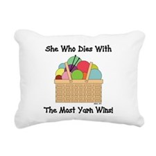 SHE WHO DIES WITH... Rectangular Canvas Pillow