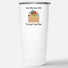 SHE WHO DIES WITH... Travel Mug