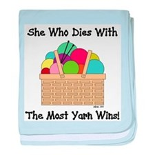 SHE WHO DIES WITH... baby blanket