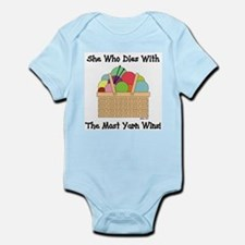 SHE WHO DIES WITH... Infant Bodysuit