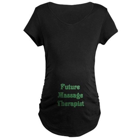 Future Massage Therapist Maternity Dark T-Shirt