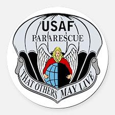 USAF PJ Logo Round Car Magnet