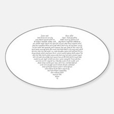 Verb Heart Decal