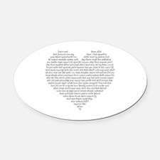 Verb Heart Oval Car Magnet