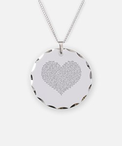Verb Heart Necklace
