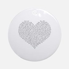 Verb Heart Round Ornament