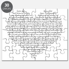 Verb Heart Puzzle