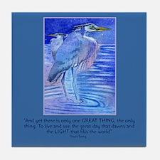 Herons in blue Tile Coaster