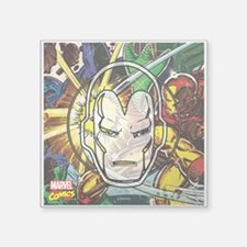 "Iron Man Icon Square Sticker 3"" x 3"""