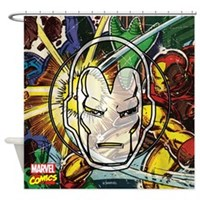 Iron Man Icon Shower Curtain