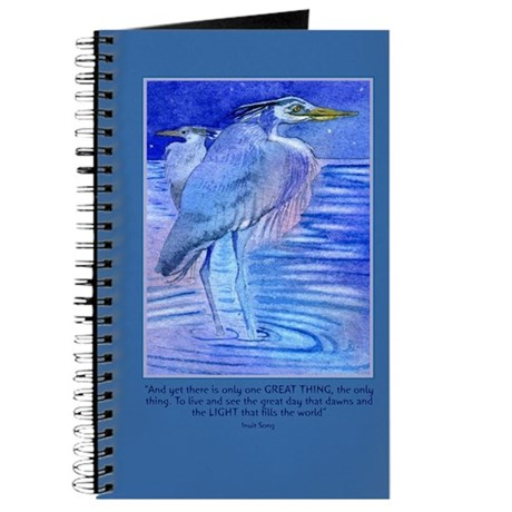 Herons in blue Journal