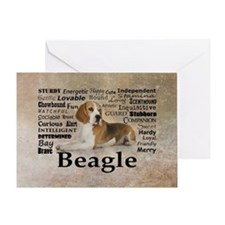 Unique Pet beagle Greeting Card