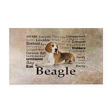 Cool Beagles Rectangle Car Magnet
