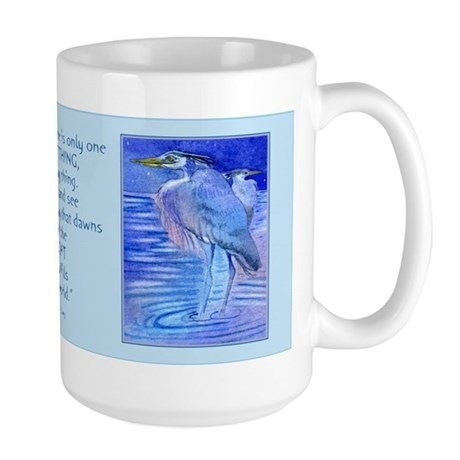 Herons in blue Large Mug