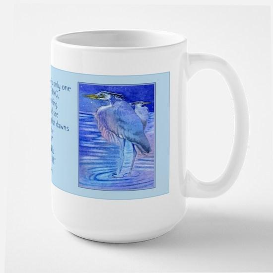 Herons in blue Large Mug