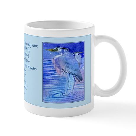 Herons in blue Mug
