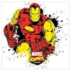 Iron Man Paint Splatter Wall Art Poster