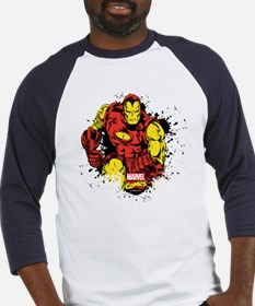 Iron Man Paint Splatter Baseball Jersey