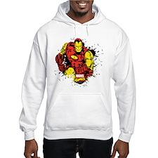 Iron Man Paint Splatter Hoodie
