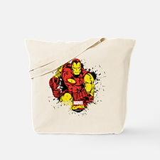 Iron Man Paint Splatter Tote Bag