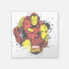 "Iron Man Paint Splatter Square Sticker 3"" x 3"""
