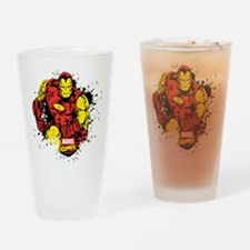 Iron Man Paint Splatter Drinking Glass