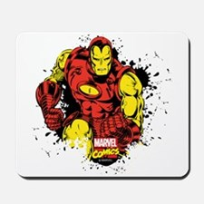 Iron Man Paint Splatter Mousepad