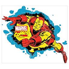Iron Man Splatter Wall Art Poster
