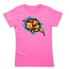 Iron Man Splatter Girl's Tee