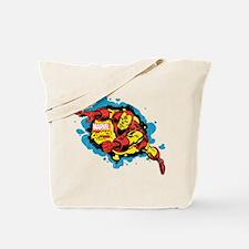 Iron Man Splatter Tote Bag
