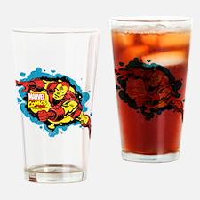 Iron Man Splatter Drinking Glass