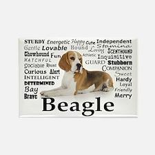 Beagle Traits Rectangle Magnet