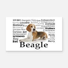 Beagle Traits Rectangle Car Magnet