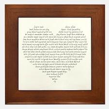 Verb Heart Framed Tile