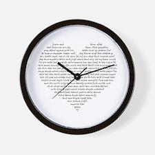 Verb Heart Wall Clock