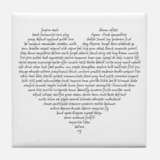 Verb Heart Tile Coaster
